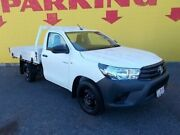 2016 Toyota Hilux GUN125R Workmate White 6 Speed Manual Cab Chassis Winnellie Darwin City Preview