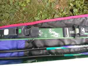 K2 5500 Triaxial 7.2mm downhill skis with boots full set