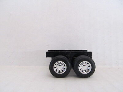 1 DCP 1/64 SCALE  BLACK TRAILER SUSPENSION WITH TIRES AND WHEELS