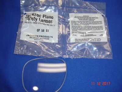 2 Jackson Replacement Lenses Safety Glasses 1481-0055 Clear Cp-58 St