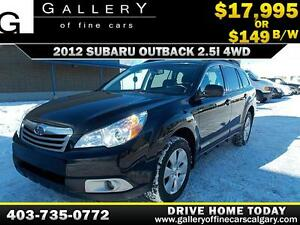 2012 Subaru Outback 2.5i 4WD $149 bi-weekly APPLY NOW DRIVE NOW