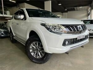 2017 Mitsubishi Triton MQ MY17 GLS Double Cab White 6 Speed Manual Utility Caringbah Sutherland Area Preview