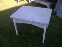 Table papillon antique en pin