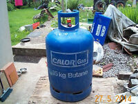 Empty butane gas bottle, 15 kg size, for mobile gas fire. £16