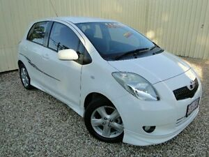 2006 Toyota Yaris NCP91R YRX White Manual Hatchback Parramatta Park Cairns City Preview