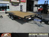 "Sure-Trac 102"" x 16 ft Deckover Flatbed (9990 lb gvwr)"