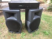 Stereo PA speakers with Power Amp