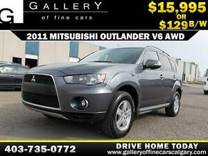 2011 Mitsubishi Outlander SE V6 AWD $129 BI-WEEKLY APPLY NOW