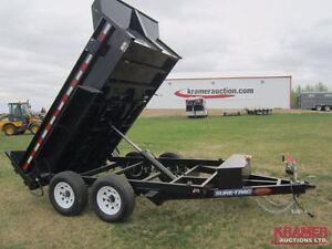 2017 Sure-Trac ST7212D 6'x10' Dump Box Trailer