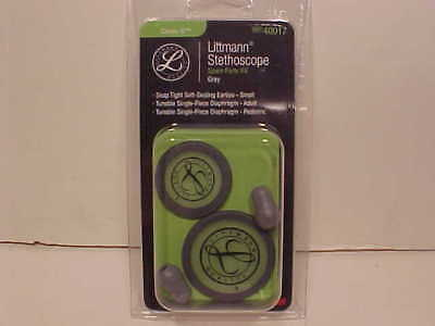 3m Littmann Cardiology Iv Replacement Kit Diaphragm And Rims Eartips 40017 Gray