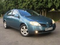 Nissan Primera 1.8 REVERSING CAMERA,FULL DEALER SERVICE HISTORY, accord vauxhall, c class honda,FORD