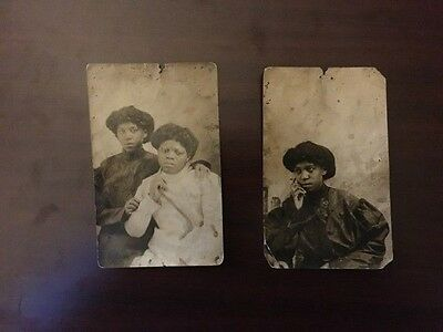 Vintage African American Photographs of Well Dressed Women - Lot of 2
