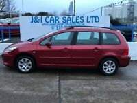 PEUGEOT 307 1.6 SW S 5d 108 BHP A LOW PRICED 5DR FAMILY EST (red) 2005