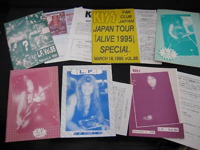KISS L.F. Vol. 85 - 90 1995 Japan Fanzine Book Lot LF