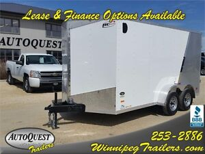 "RC Trailers 7 x 14 x 78"" High V-Nose Enclosed Cargo Trailer"