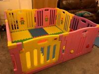 Kid Large Plastic Baby Playpen - Pink