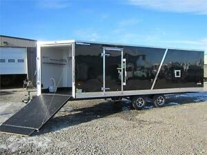 INSULATED & HEATED *** 8.5X28 *** 4 PLACE SLED HAULER  !!!