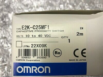 Omron Capacitive Proximity Switch Pn E2k-c25mf1 10 To 40 Vdc New In The Box