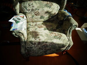Large wing back chair