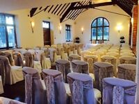 wedding & party hire and setup chaircovers from £1