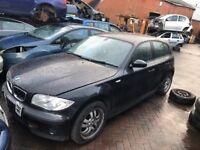 BMW 1 SERIES 2005 1.6 PETROL BLACK FULL CAR BREAKING