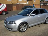 Audi A3 2.0 TDI Sportback 2008, 58 plate low milage, 6 speed manual