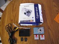 Blue Sony DSC W55 camera