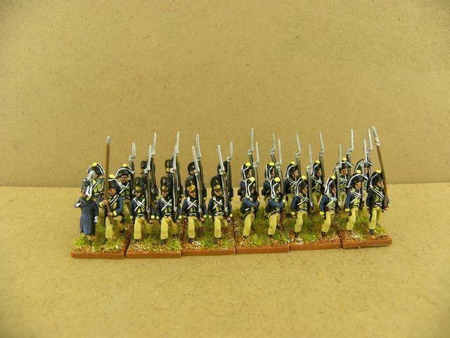 15mm Napoleonic painted Jena Prussian Line Btln Pru014