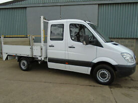 Mercedes Sprinter 316 CDi 160hp crew cab drop side pick up 2012 62 reg