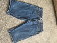TOPMAN MENS DENIM SHORTS IN PERFECT CONDITION !!