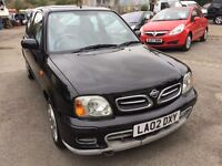 2002 Nissan Micra 1.0 litre, starts and drives well, 1 years MOT (runs out March 2018), clean car in