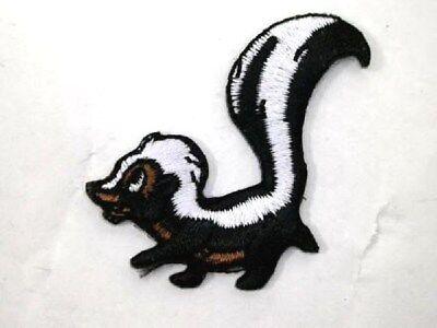 - Cute Skunk Polecat Little Stinker Iron On Applique Patch