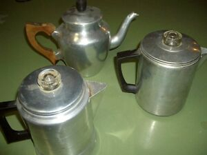 VINTAGE COFFEE POT AND COOKWARE