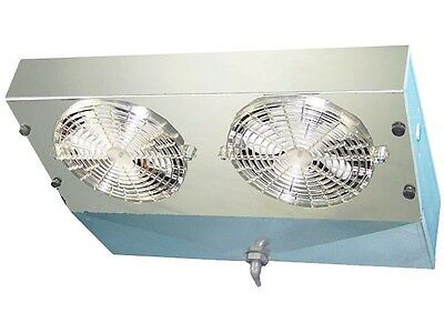 Thin Profile Reach-in Freezer Evaporator 2 Fans Blower 1200 Btu 220 Cfm 115v