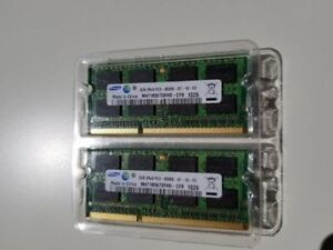 Memory 2- PC3-8500 2 GB SO-DIMM 1066 MHz