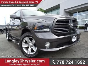 2015 RAM 1500 Sport ACCIDENT FREE w/ 4X4, LEATHER UPHOLSTERY...