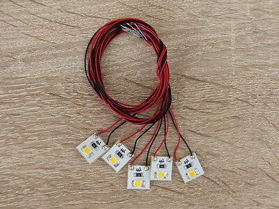 5x  LED Hausbeleuchtung anschlussfertig warm-weiss