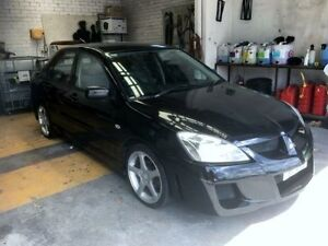 2004 Mitsubishi Lancer CH ES Black 5 Speed Manual Sedan Cardiff Lake Macquarie Area Preview
