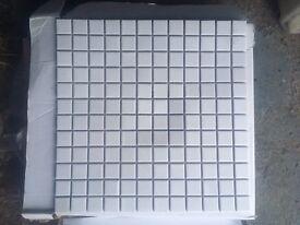White mosaics, 330mm x 330mm