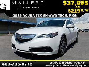 2015 Acura TLX TECH PKG SH-AWD $219 biweekly APPLY NOW DRIVE NOW