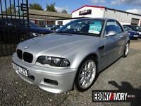 BMW M3 M3 CONVERTIBLE MANUAL + FULL SERVICE HISTORY + LEATHER + SATNAV + HARD TOP (silver) 2004