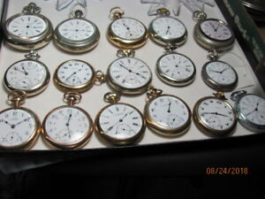 Alberta Private Label pocket watch collection.. total 18/offers
