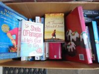 Box of books various paperback and hardback over 30