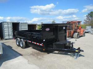 GET THE LARGEST 7 TON DUMP TRAILER 7 X 16'  & PAY $190 MONTHLY London Ontario image 2