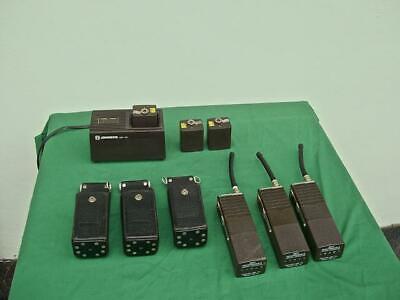 Ef Johnson 3 Fm-577 Radios Rapid Charger 6 Batteries Pouches