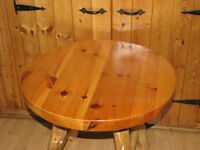 Rustic Craft Small Round Table