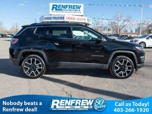 2018 Jeep Compass Trailhawk 4x4, Panoramic Sunroof, Remote Start