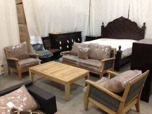 Solid Teak wood seating seat, includes 2 chairs, love sea