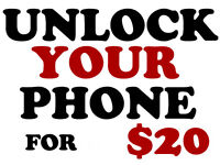 Unlock Your Phone for $20 ONLY - SPECIAL WEEKEND PRICE!