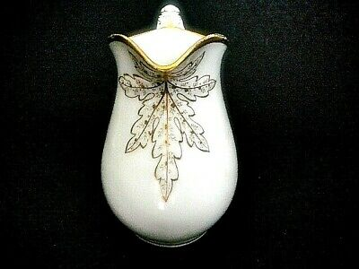 Haviland H&Co Antique 64 oz Pitcher Wedding Ring White & Gold Porcelain 7 7/8